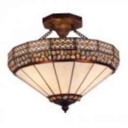 ELK Lighting Three Light Burnished Copper Bowl Semi-Flush Mount - 70075-3